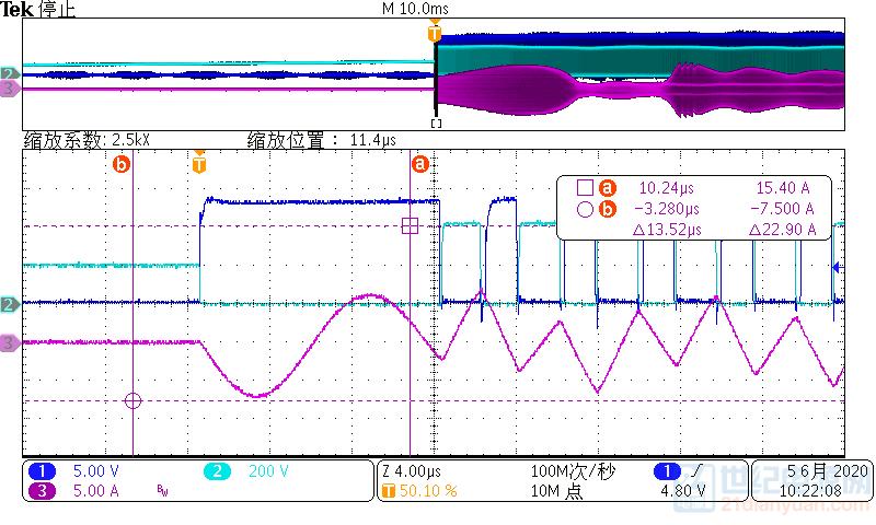 下管驱动,VDS,原边电流