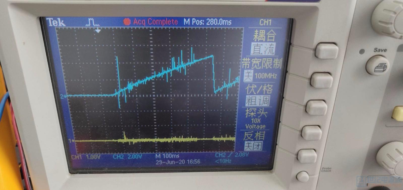 这个是用示波器测到的SS端的波形