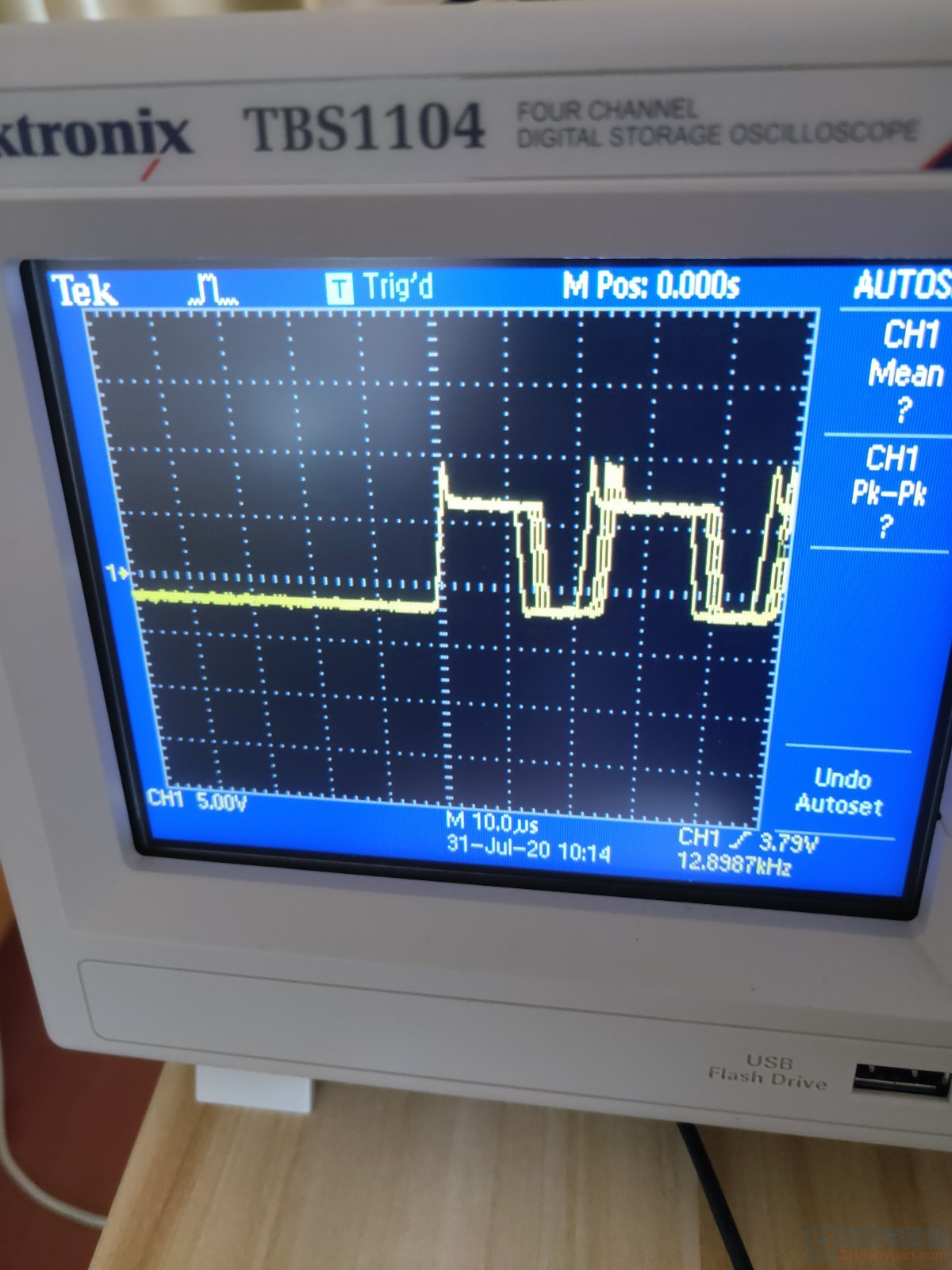 烧毁电阻时的波形