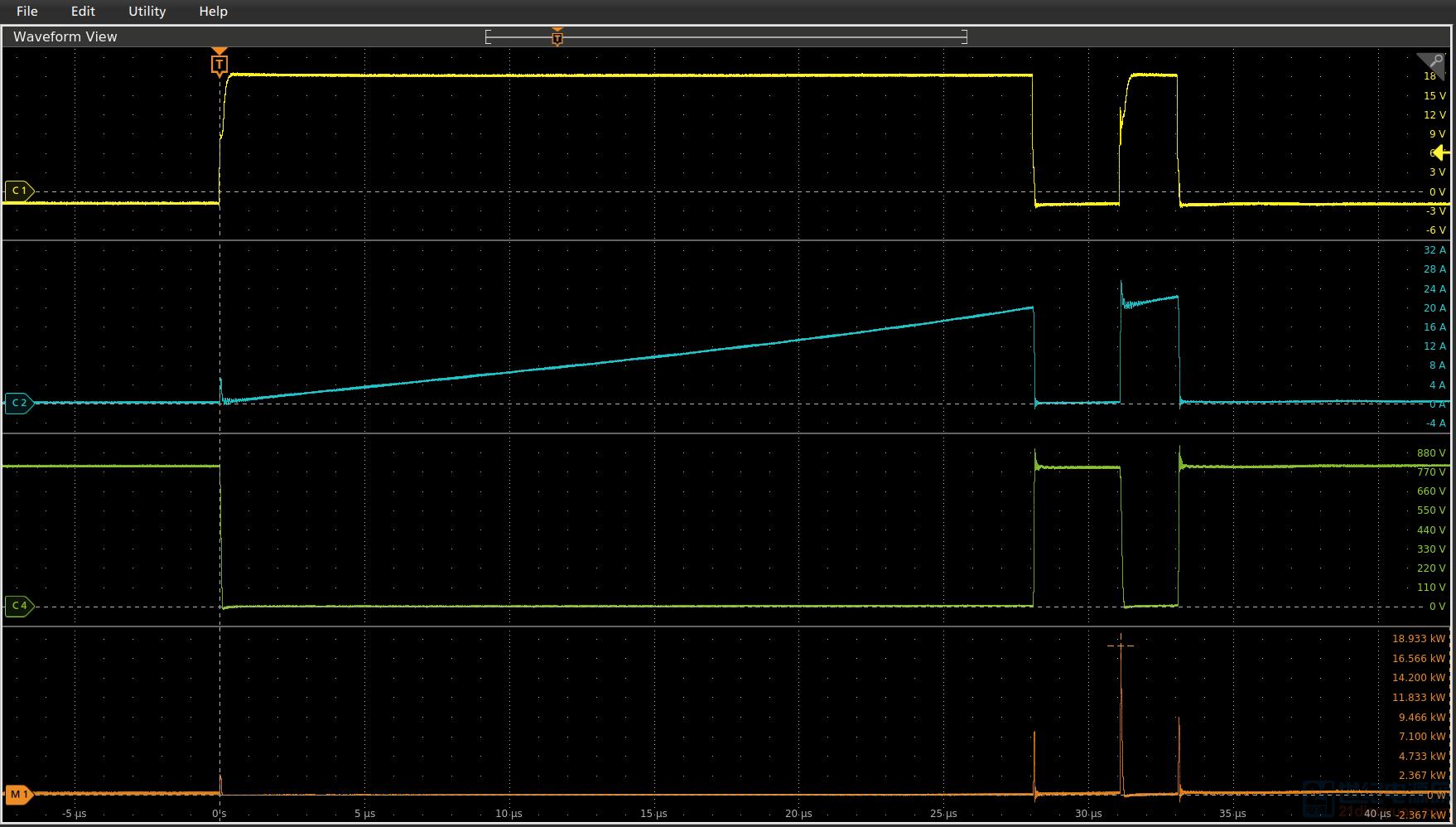 SCT3040KL 800V 20A双脉冲测试