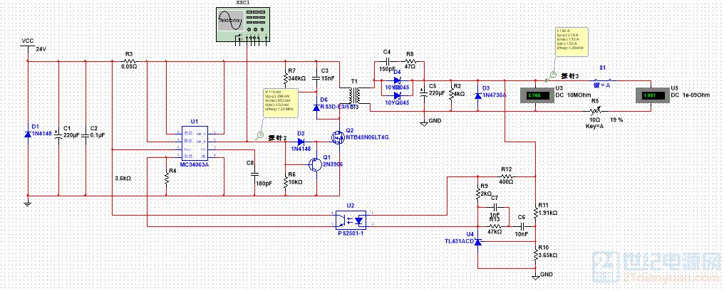 MC34063A隔离DCDC