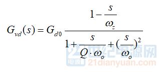 CCM反激传递函数